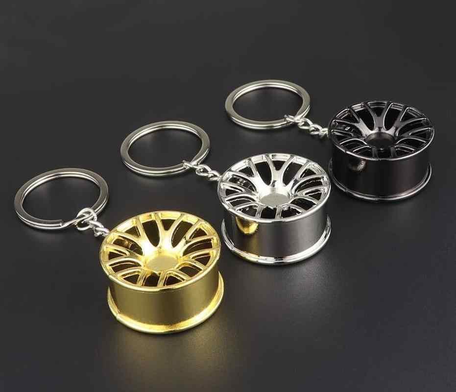 الموضة سيارة عجلة ريم توربو قلادة حديدية سلاسل المفاتيح هدية للرجال كيرينغ معلقة الديكور سيارة مفتاح حلقات سلسلة المفاتيح حلية