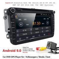 Android 9.0 8 2din Car DVD for VW POLO GOLF 5 6 POLO PASSAT B6 CC JETTA TIGUAN TOURAN EOS SHARAN SCIROCCO CADDY DSP 4G GPS Navi