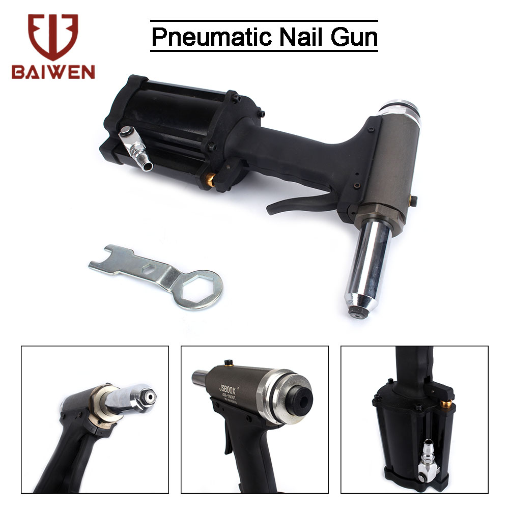 Pneumatic Hydraulic Air Riveter Pop Rivet Riveting Gun Nut Nail 5/32'' 3/16'' 1/4'' Industrial Nail Riveting Tool