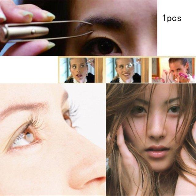 Eyebrow Clip With Led Light Eyebrow Clip Eyelash Clip Beauty Clip Eyebrow Clipper Stainless Steel Eyebrow Tweezers 1