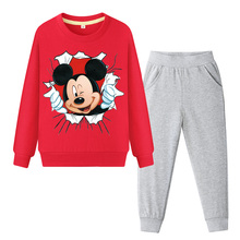 Baby Boys Girls Kids Clothes Set Autumn Children Clothing Long Sleeve Mickey Print Sweatshirt + Pants 2pcs Sport Suit Tracksuit
