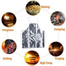 Тепла устойчивая изоляция Алюминий Фольга Защитный Рабочий Фартук для барбекю термостойкие фартук