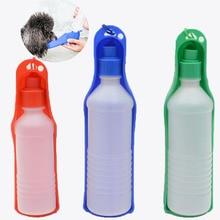250 / 500мл Собака Бутылка Воды Pet Складной Поилка Собака Кошка Открытый Портативный Питьевой Кормушка Путешествия Питьевая Бутылка Чаша Для поилка для собак