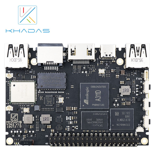 Khadas VIM3 SBC: 12nm Amlogic A311D Soc With 5.0 TOPS NPU