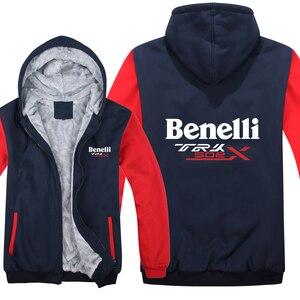 Image 3 - Benelli TRK 502X hoodies karikatür ceket kalınlaşmak hoodie fermuar kış polar Benelli TRK 502X kazak