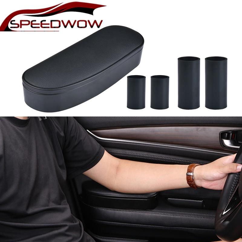 SPEEDWOW Anti Slip Mat Storage Box Adjustable Car Elbow Support Left Hand Armrest Support Anti fatigue For Travel Rest Support Armrests     - title=