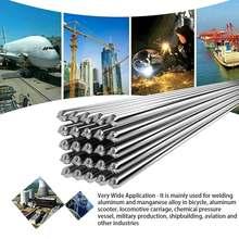 Niskotemperaturowe łatwe topliwe aluminiowe pręty spawalnicze pręty spawalnicze drut rdzeniowy 2mm pręt lutowniczy lutowanie aluminium nie ma potrzeby lutowania w proszku