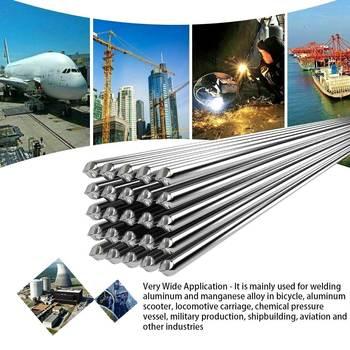 Varillas de soldadura de aluminio de baja temperatura, barras de soldadura de alambre con núcleo de 2mm, fácil de fundir, No necesita polvo de soldadura