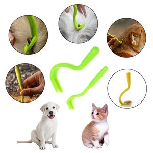 2PCS Pets Tick Removal Tool Dual Teeth Tick Twistered Cats Dogs Cleaning Supplies Mites Twist Hook Remover Hook Pet Supplies