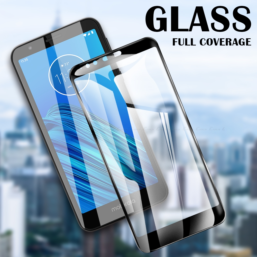 2.5D Full Cover Screen Protector Tempered Glass For Motorola Moto E6s E6 E5 E4 Plus Z4 Z3 Z2 Play Force Glass Protective Film image