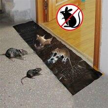 Anti Rat Large Big Sticky Glue Mat Rodents Moles Mouse Trap Rat Mice Trap Black Invisible Mouse Glue Trap 120x28cm Traps 2021