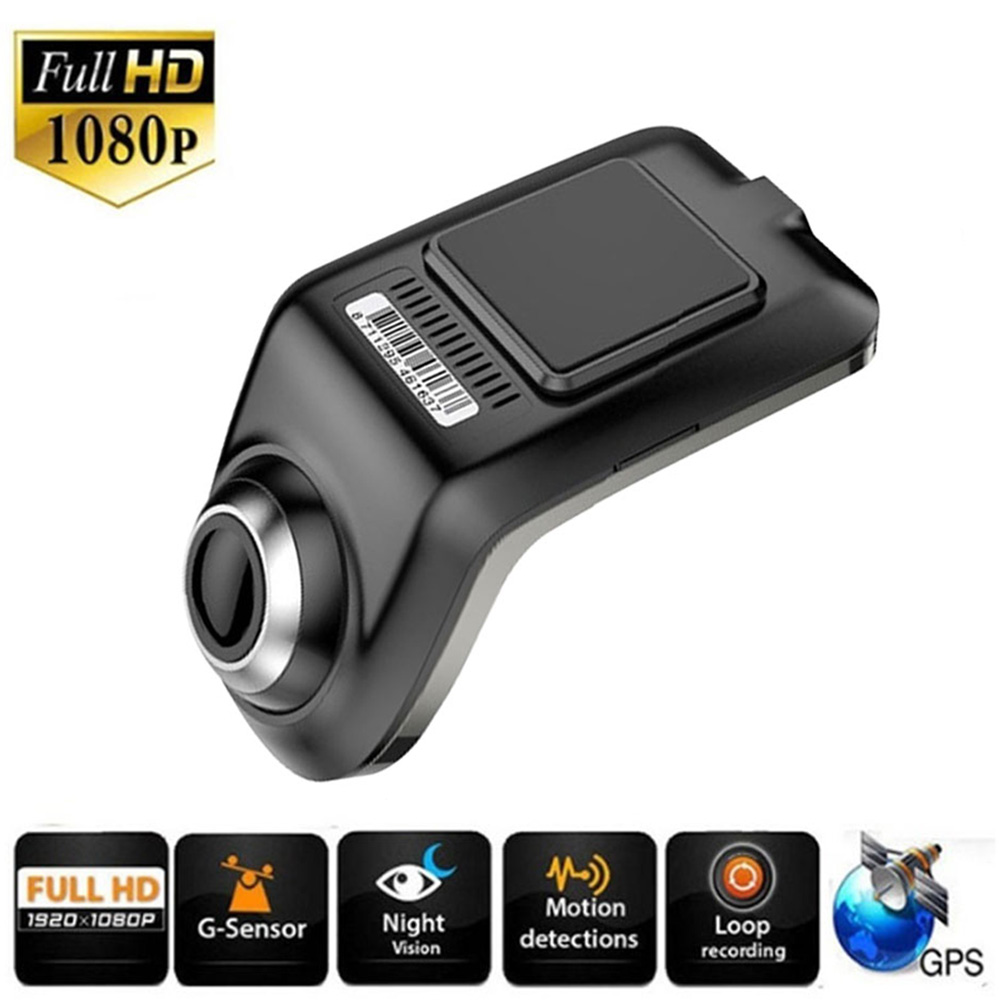 Full HD 1080P Min Car DVR Camera U3 ADAS Auto Digital Video Recorder Dash Cam for Android Multimedia Player G-Sensor Car DVRs
