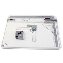 Портативная доска для рисования A3, доска для рисования, параллельные линейки, угловые зажимы, регулируемый угол, инструменты для рисования