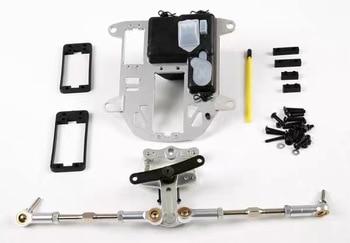 Aluminum Symmetrical Push-Pull Steering Kit Fit for 1/5 HPI ROVAN KM BAJA 5B 5T 5SC Rc Car Parts 85273 6000 rpm clutch kit fit zenoah cy engines for 1 5 hpi rofun rovan kingmotor baja losi 5ive t rc car toys parts