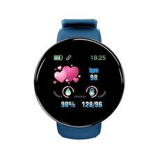 D18 inteligentny trening pasek do z pomiaru ciśnienia pulsometr monitor aktywności fizycznej bransoleta od zegarka tanie tanio ONLENY CN (pochodzenie) Z systemem Android Wear Na nadgarstek Zgodna ze wszystkimi 256MB MIESIĄC Wiadomość Push Budzik