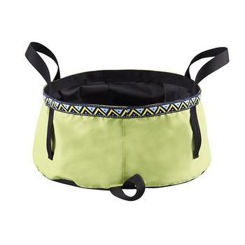 Składana umywalka 6 8 12L składane umywalka do mycia 8 5L odkryty piesze wycieczki Camping wiadro przenośne pojemnik na wodę tanie i dobre opinie CN (pochodzenie) Folding Washbasin