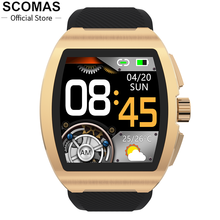 Temperature-Monitor Smart-Watch Blood-Pressure Business Bluetooth SCOMAS Men Women New