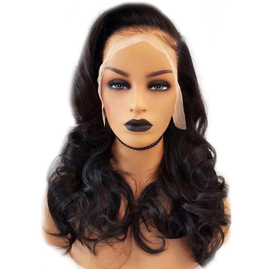 Pre plucked 13 4 Lace Front Wig Brazilian Body Wave Remy Human Hair Wigs Natural Hairline