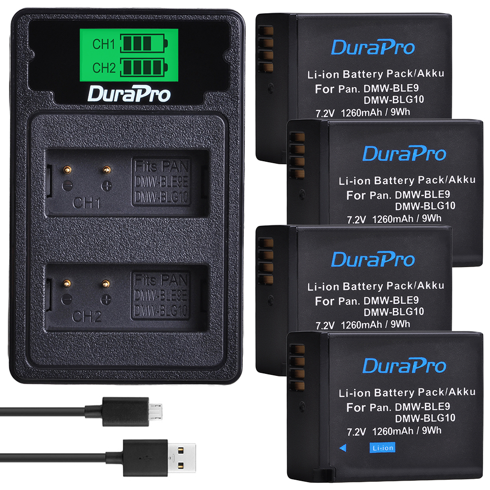 DMW-BLG10 DMW BLG10E BLE9E BLE9 DMW-BLE9 Battery Charger Set for <font><b>Panasonic</b></font> <font><b>LUMIX</b></font> GF5 GF6 GX7 <font><b>LX100</b></font> GX80 GX85 Camera Accessories image