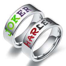 Heißer Verkauf 6mm Edelstahl Finger Ringe JOKER HARLEY Paar Ring Einfache Mode-Ring Für Frauen Mann Party Schmuck geschenk