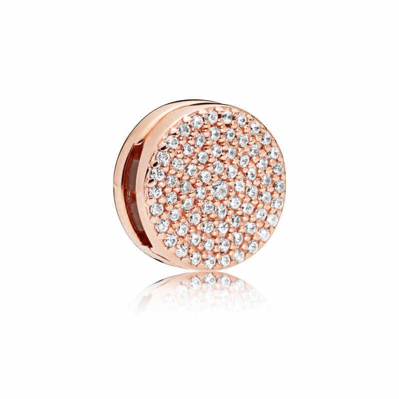 Nowy 925 srebro bransoletka seksowny Rose złota korona chcesz naprawić zestaw bransoletek Fit oryginalny pandora charm kobiet bransoletka biżuteria