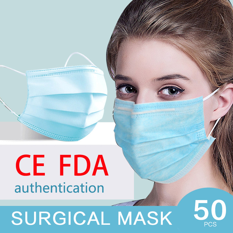 CE Certification Anti-Pollution 3 Laye Medical Mask Dust Protection  Disposable Dustproof Face Mouth Masks Anti PM2.5 Mask