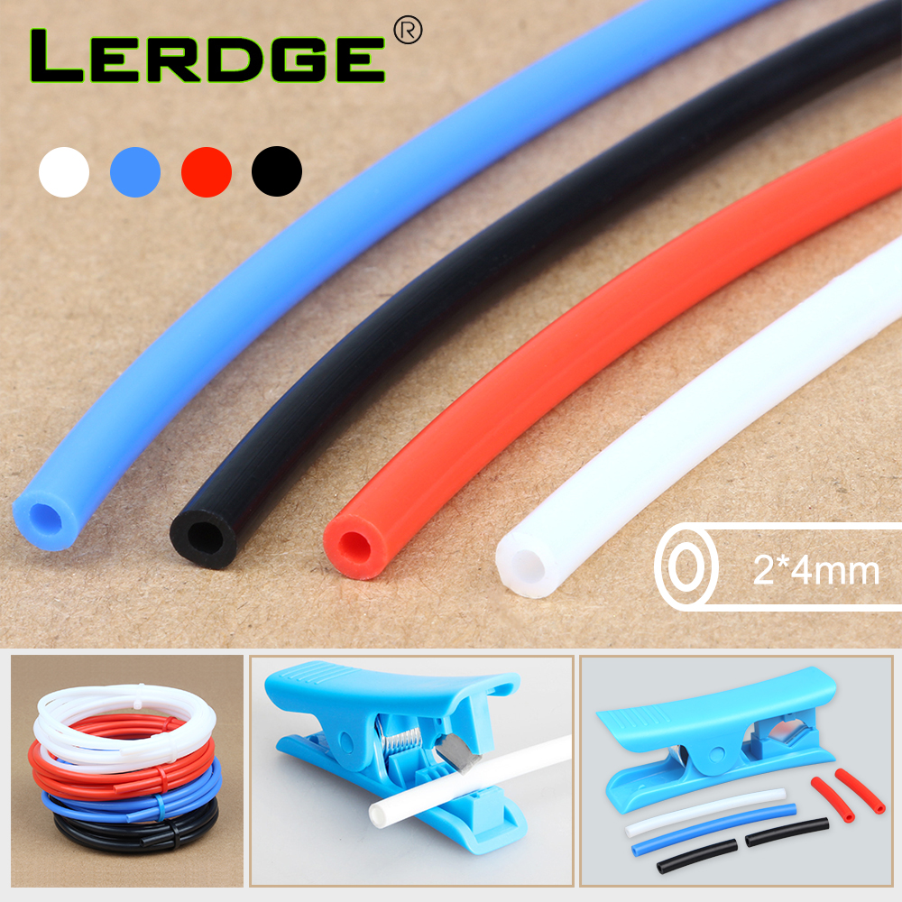 3D Printer Parts PTFE-Tube Teflon PLA 1.75mm Filament J-head  Tl-Feeder Tubing  OD4 ID2mm Connector With Cutter Bowden Extruder