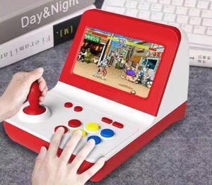 Image 4 - المحمولة الرجعية وحدة تحكم بجهاز لعب محمول صغير 4.3 بوصة 16 جرام 2000 ألعاب الفيديو الكلاسيكية الأسرة لعبة وحدة التحكم هدية الرجعية ممر