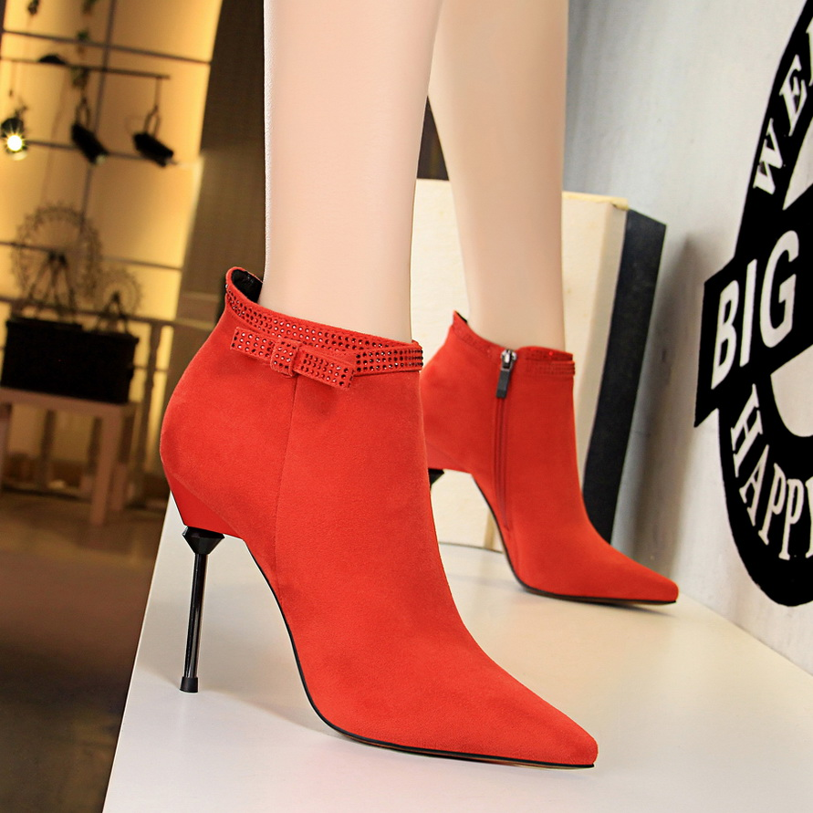 Womens Pointed Toe Pumps Ankle Boots Stiletto High Heels Ladies Party Shoes