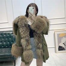 Женская зимняя куртка шуба из натурального Лисьего меха толстая