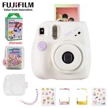 Genuine Fujifilm Fuji Instax Mini 7+ Instant Film Photo Camera Pink Blue Back Color instock Free Shipping cheaper than mini 9