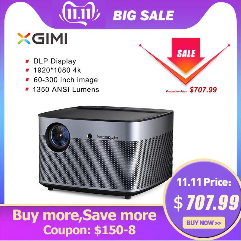 XGIMI H2 XHAD01 DLP 1350ANSI Lumen projecteur de cinéma maison Full HD 4K Harman Kardon stéréo bouchon d'objectif automatique