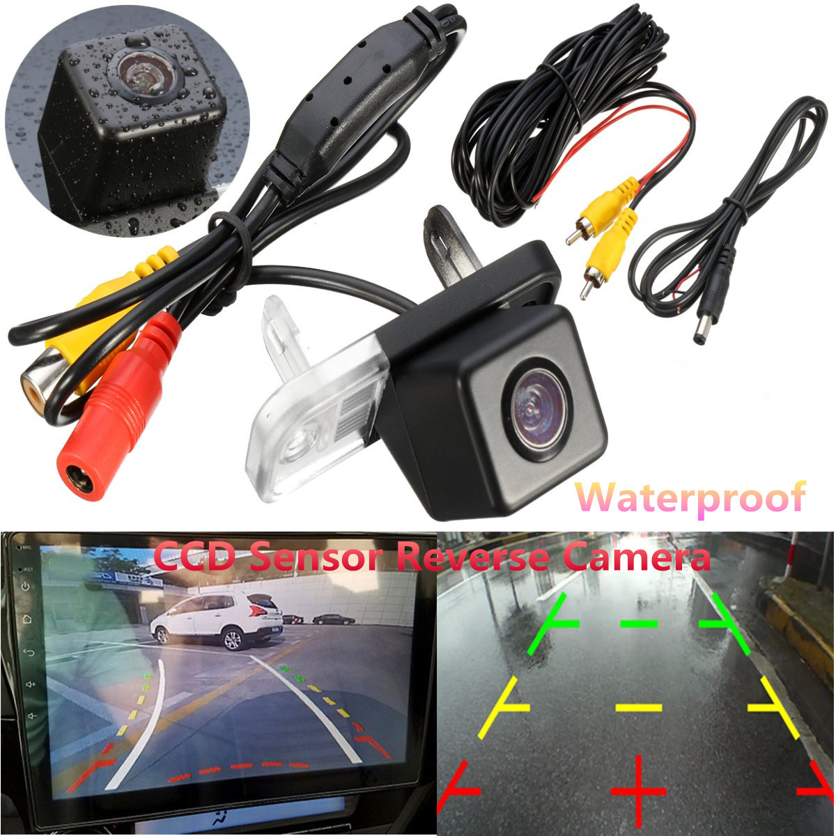 CCD HD Auto Car Rear View Camera Night Vision Waterproof Parking Reverse Camera For Mercedes Benz W209 W203 W211 W219 C Class
