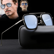 SIKYGEUM Tony Stark Iron Man Sunglasses Men Matel Frame Sun Glasses Unisex Women UV400 gafas de sol
