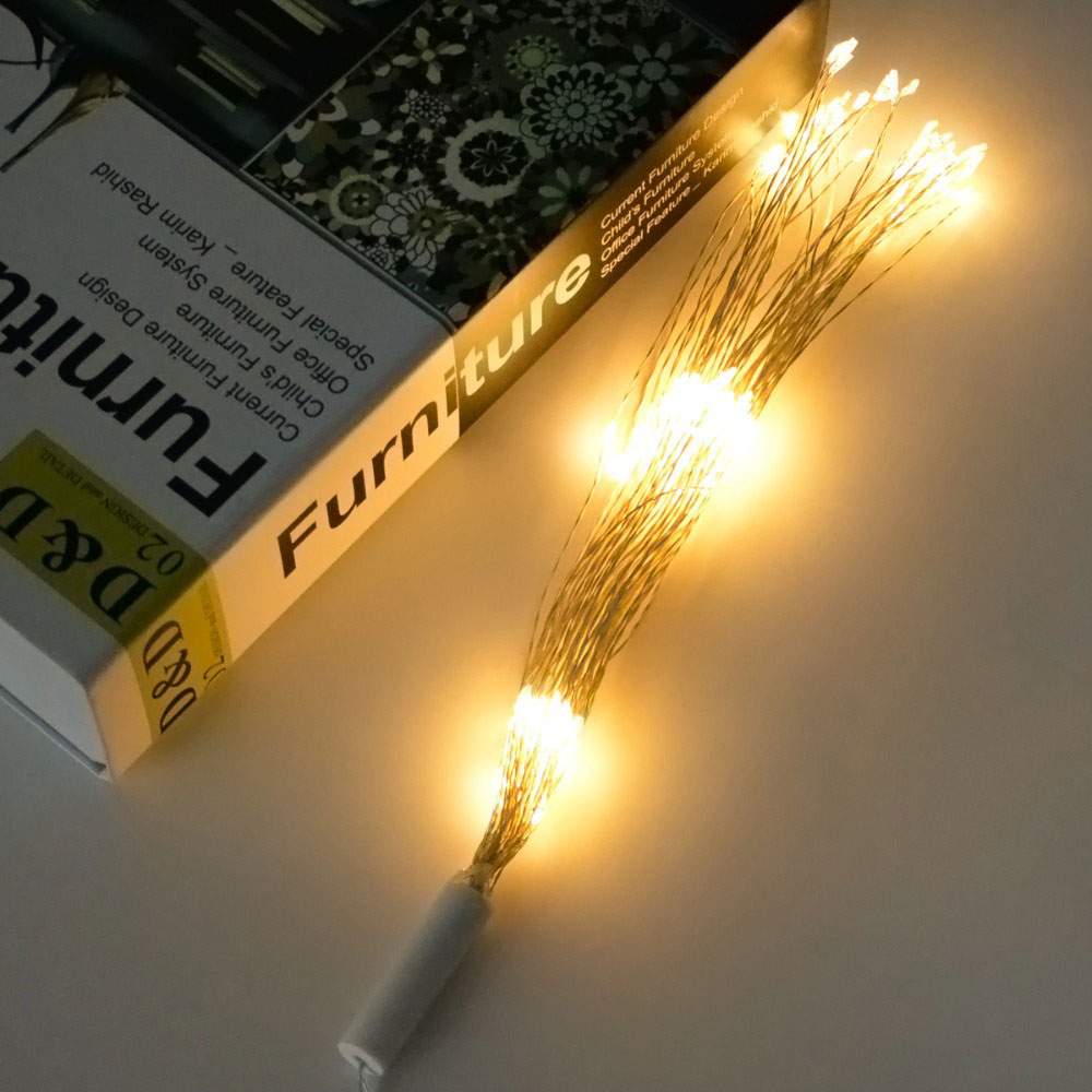 Solar Energy Firework String Light Dandelion Lights Solar Light Outdoor Decoration Festival Christmas Home Landscape Lamp