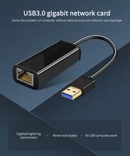 Новый USB 3,0 Gigabit Ethernet Lan Карта RJ45 адаптер 10/100/1000 Мбит/с Ethernet конвертер Realtek RTL8153 для портативных ПК Win8 10