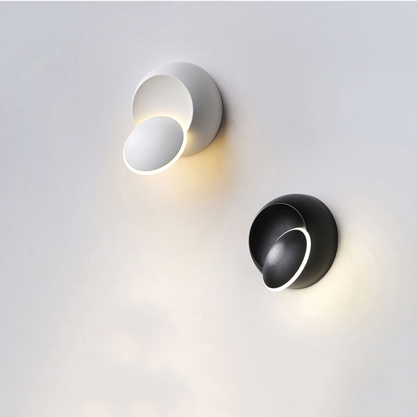 LED Wall Lamp 360 Degree Wall Lamp Bedside Living ROOM Aside Stairs Light Fixture Adjustable Wall Sconce Rotation Wall Lamp BL16