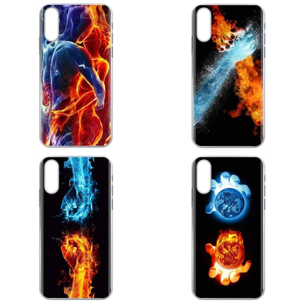 Water And Fire Art Wallpapers Diy Painted For Samsung Galaxy A31 A51 A71 5g A81 A90 5g A91 A01 A11 M31 S11 S11e S20 Plus Ultra Phone Case Covers Aliexpress