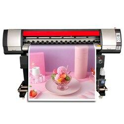 Drukarka szerokoformatowa eko rozpuszczalnika 1.6m cyfrowa drukarka atramentowa roll to roll maszyna drukarska naklejki winylu ploter drukarki XP600