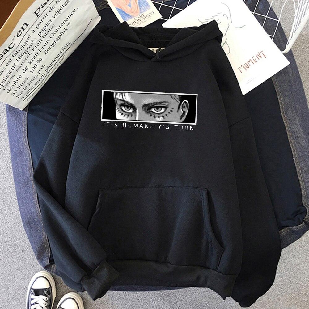 Anime Attack on Titan Hoodie Eren Yeager Print Classic Sweatshirts Funny Cartoon Harajuku Womens Mens Hip Hop Streetwear Jacket 15