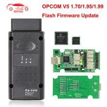 Opcom v5 flash atualização de firmware para opel op com 1.70 OP-COM 1.95 pic18f458 fidi pode ônibus obd obd2 scanner carro diagnóstico ferramenta automóvel