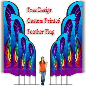 Free design Graphic custom printing for Feather flag beach flag banner graphic replacement sport advertising club company logo(China)