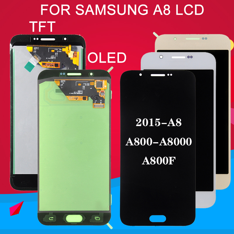 Dinamico Promotion <font><b>A8</b></font> <font><b>Display</b></font> A800 Lcd For Samsung Galaxy <font><b>A8</b></font> 2015 Lcd A8000 A800F <font><b>Display</b></font> Touch Screen Digitizer Assembly image
