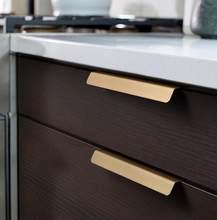 LCH Style nordique en laiton massif armoire poignées tiroir bouton porte tirer en laiton feuille artistique Style chinois matériel de meubles