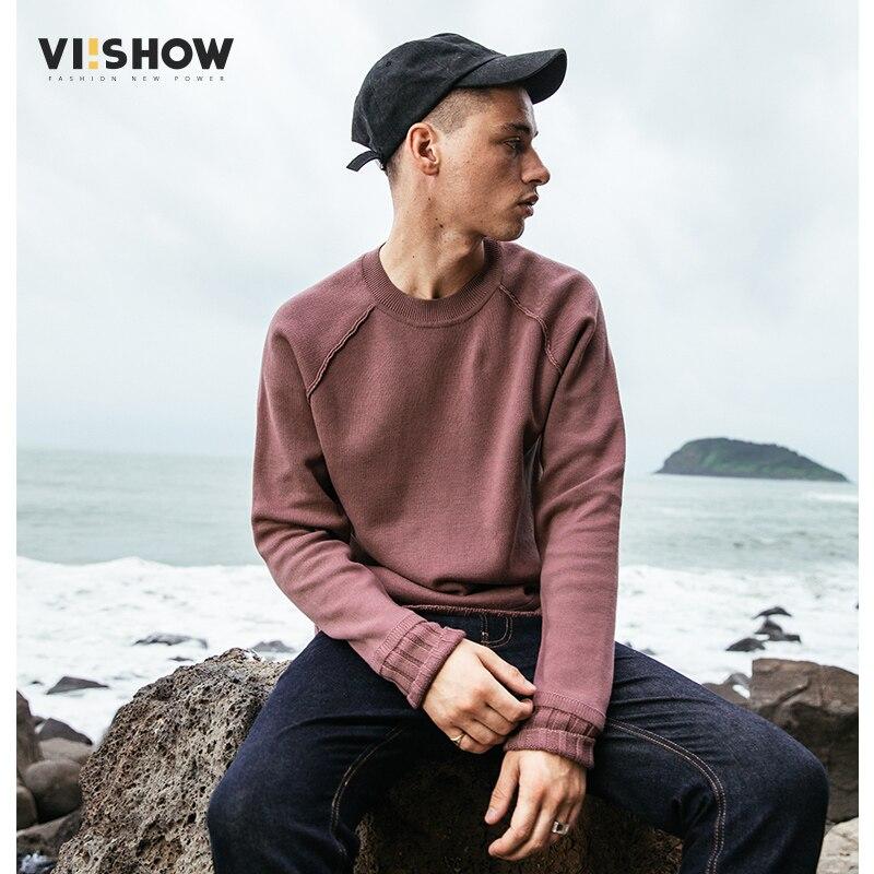 VIISHOW мужской свитер, пуловер, брендовая одежда, качественный мужской белый свитер на осень и весну, Рождественский свитер, ZC1753173 - 5