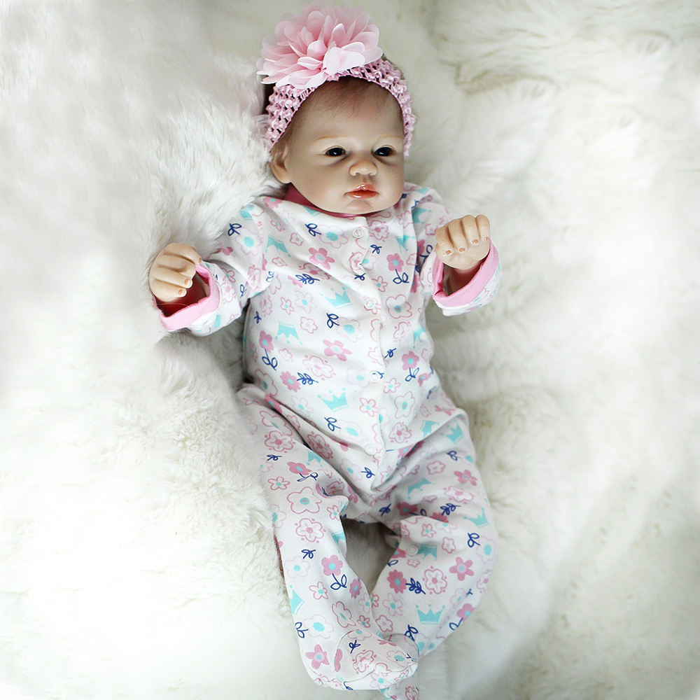 "Otarddolls 22 ""bebe reborn baby dolls 55 cm reborn dolls 수제 비닐 실리콘 boneca 소녀를위한 생생한 장난감 생일 선물-에서인형부터 완구 & 취미 의  그룹 1"