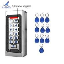 Realhelp アクセス制御システムカードリーダーフルメタルキーパッド IP68 防水屋外 led キーパッド rf ドアアクセス 12 v と 24 v