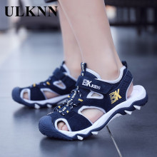 ULKNN BOY'S Closed-toe Sandals Summer 8 Anti-slip Soft-Sole Young STUDENT'S Sandals Boy 9 Big Boy 12-Year-Old