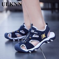ULKNN Boy's Closed-toe 샌들 여름 8 Anti-slip Soft-Sole 어린 학생 샌들 소년 9 Big Boy 12 세