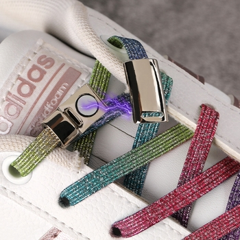 1 para sznurowadła magnetyczne elastyczne sznurowadła specjalne kreatywne bez krawata buty koronki dzieci dorosłych tenisówki typu uniseks sznurowadła struny tanie i dobre opinie FASTLACES Stałe Magnetic shoelace T9-3 Poliester 100cm 0 7cm 0 2cm No Tie shoelace Elastic Locking ShoeLace Colorful shoelace